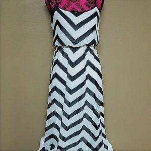 Bisou Bisou summer flowy maxi dress small 4